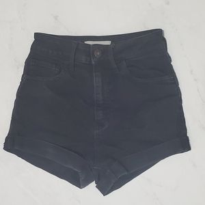 Aritzia TNA Black high waisted shorts
